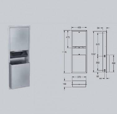 Combinatie dispenser de prosoape de hartie-cos de gunoi,cu montaj ingropat FRANKE - Poza 1