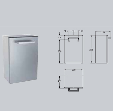 Cos de gunoi pentru pungi igienice, montare pe perete FRANKE - Poza 3