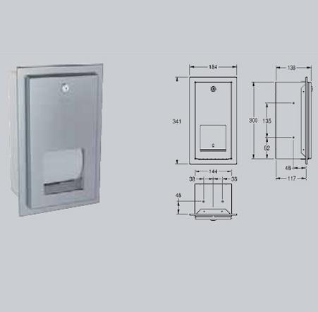 Suport pentru 2 role de hartie igienica cu sistem de blocare cu montaj ingropat FRANKE - Poza 15