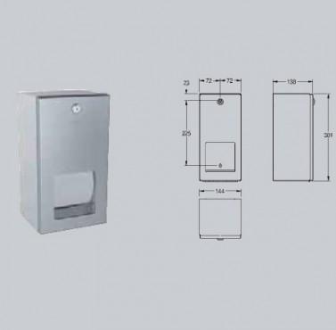 Suport pentru 2 role de hartie igienica, cu sistem de blocare, montare pe perete FRANKE - Poza 16