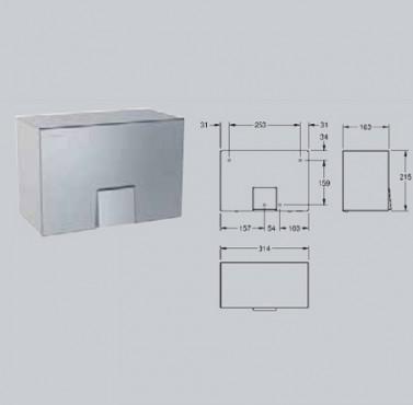 Uscator electronic de maini cu aer cald, montare pe perete FRANKE - Poza 18