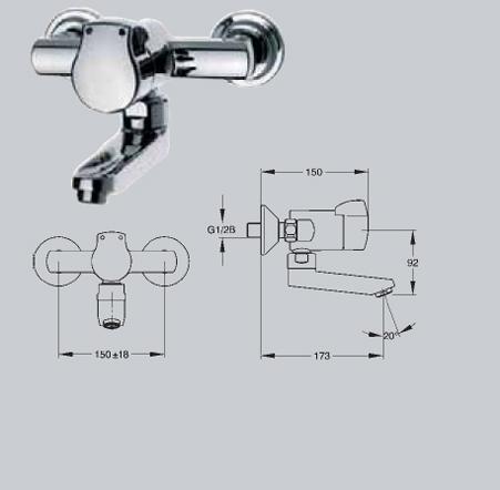 Baterii si robineti cu inchidere hidraulica FRANKE - Poza 5