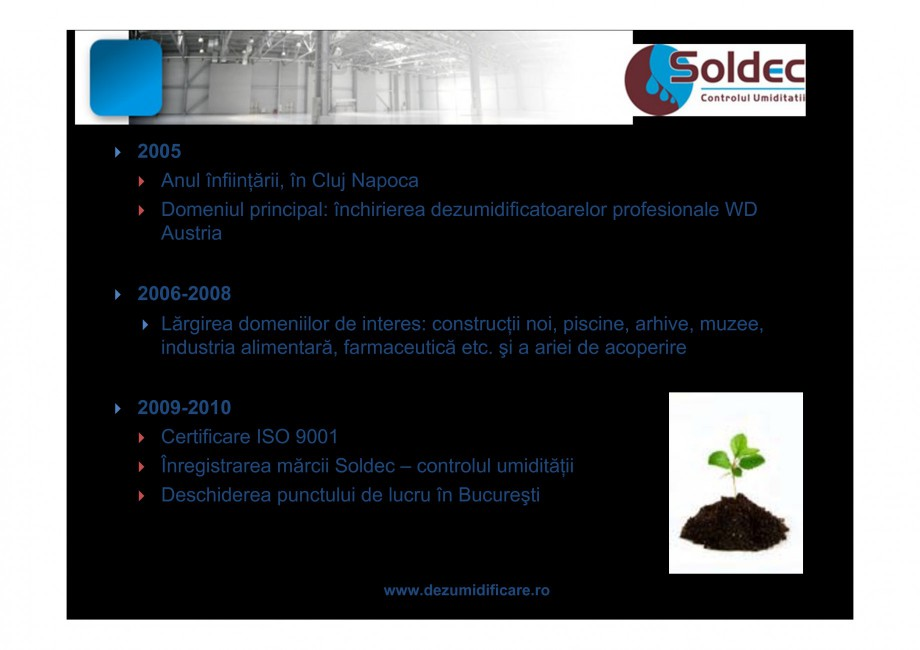 Pagina 4 - Prezentare companie SOLDEC WOODS AUSTRIA Catalog, brosura Romana CATOARELOR    ...