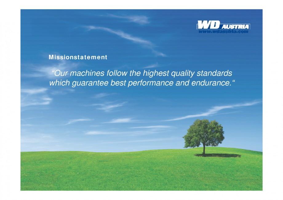 Pagina 5 - Prezentare - WD Austria WOODS AUSTRIA Catalog, brosura Engleza ur highlights •...