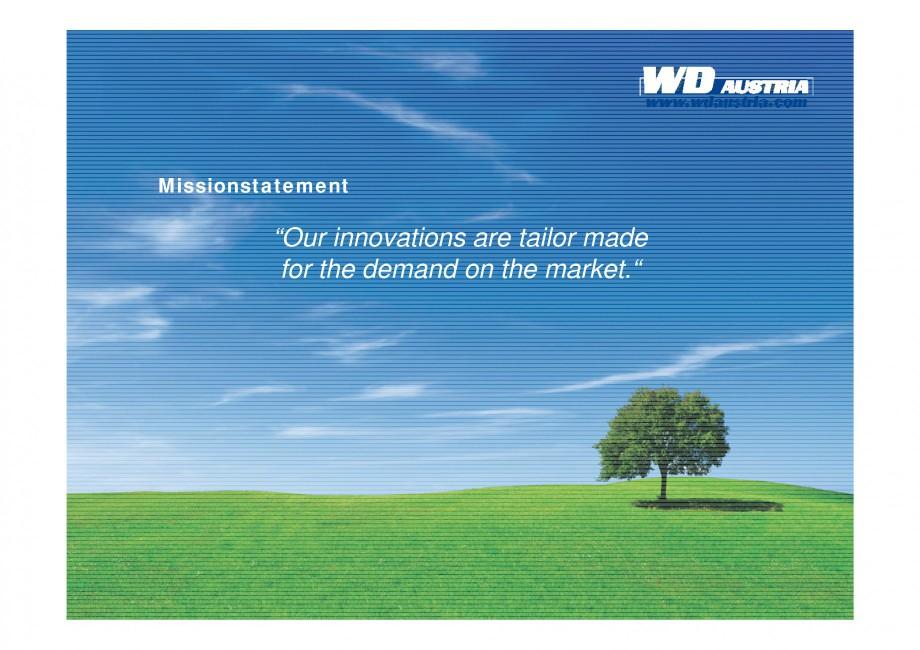 Pagina 7 - Prezentare - WD Austria WOODS AUSTRIA Catalog, brosura Engleza dew Decontamination • 5...