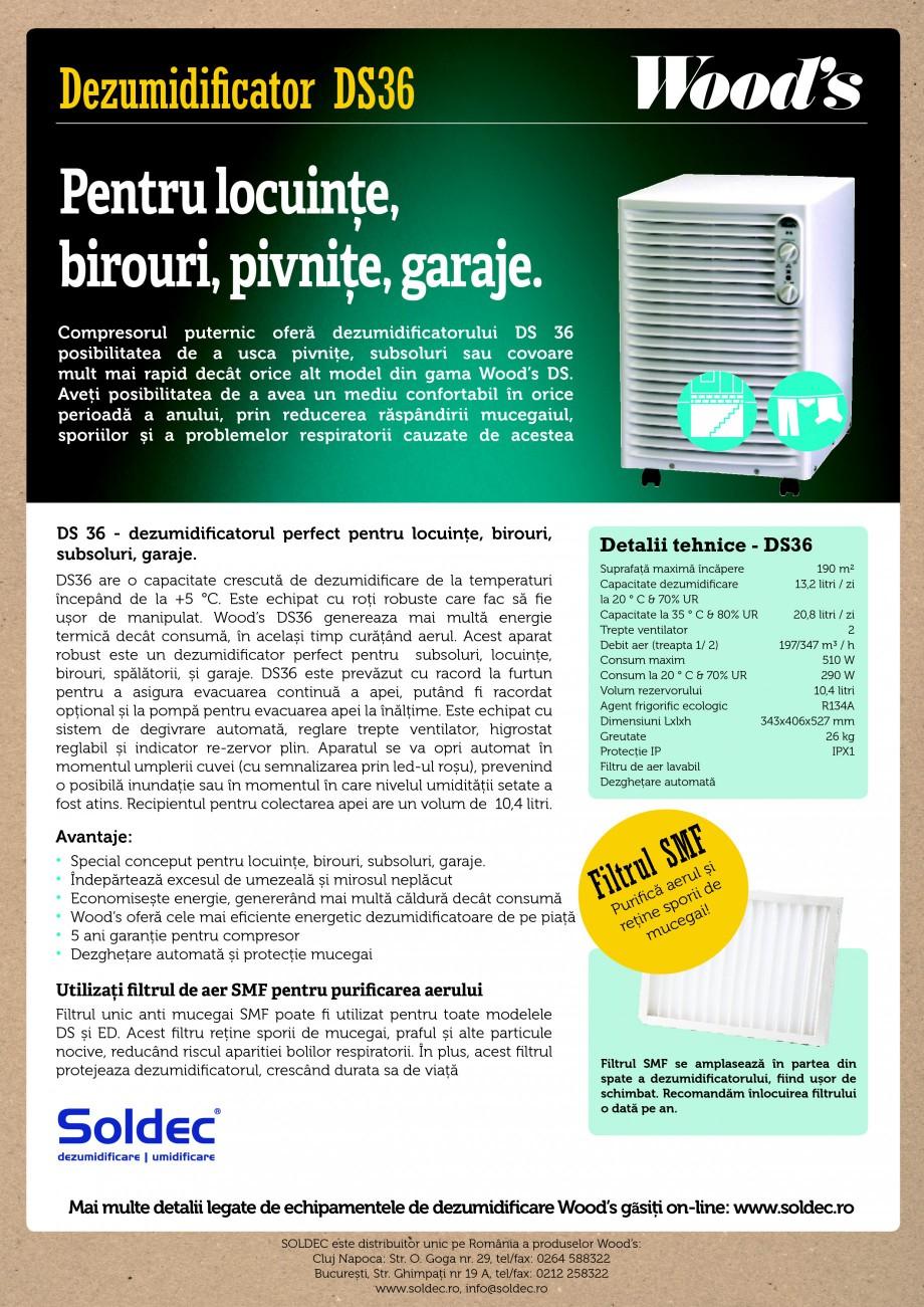 Pagina 1 - Dezumidificator profesional Wood's DS36 Fisa tehnica Romana Dezumidificator DS36 ...
