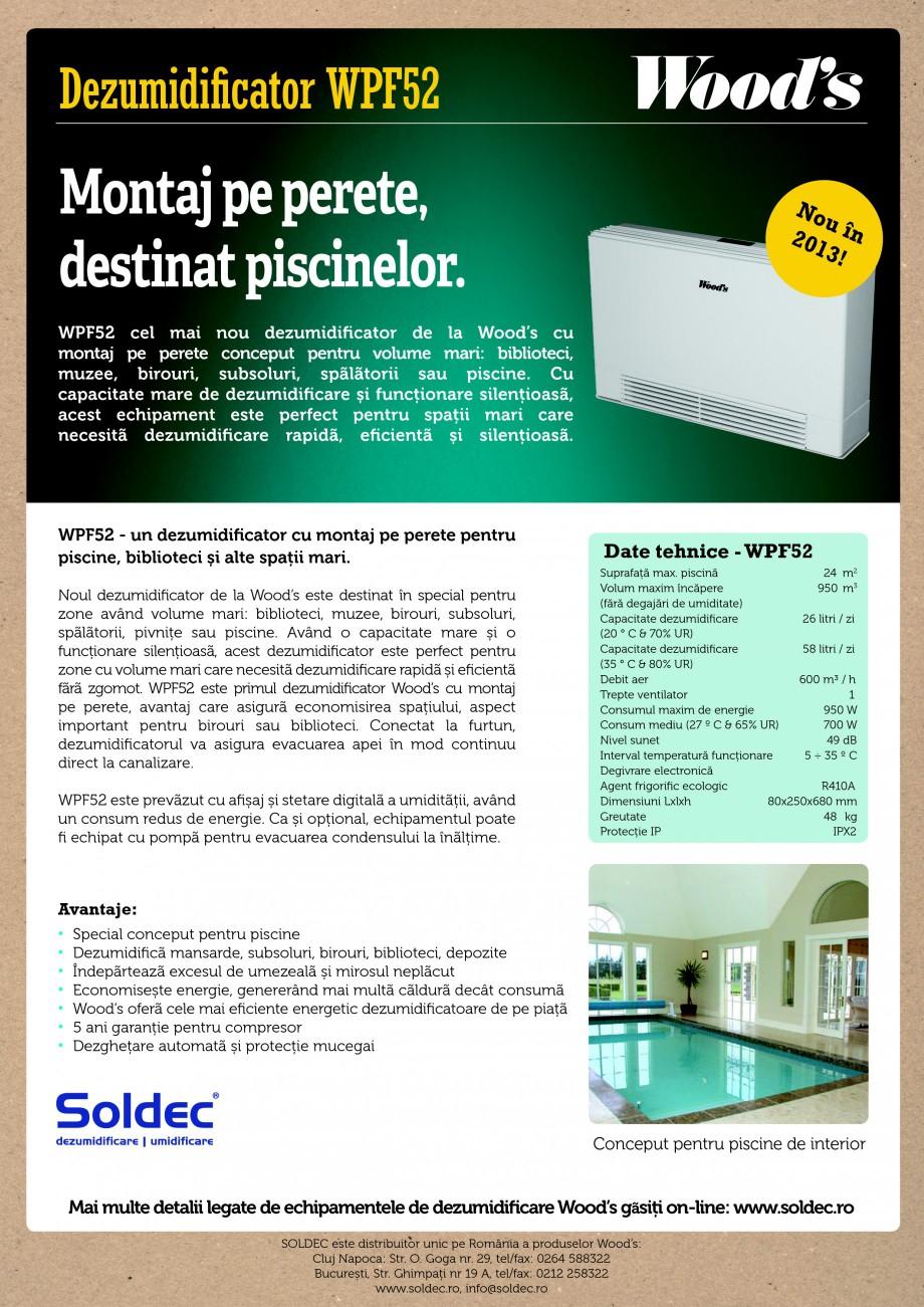 Pagina 1 - Dezumidificator pentru piscine Wood's WPF52 Fisa tehnica Romana Dezumidificator...