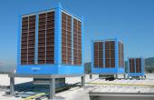 Aparate pentru racire adiabatica Racitoarele adiabatice Munters Italia pot fi amplasate pe acoperisul cladirilor, cu sau fara aport de aer proaspat, rezultatul fiind un aer proaspat, racoros.