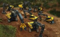 Excavatoare si buldoexcavatoare Mini excavatoarele si excavatoarele Volvo reprezinta solutia dvs. pentru echipamentele de excavare fiabile. Pe senile sau pe drum cu versatilitatea pe roti, sunteti pe drumul cel bun spre o mai buna pregatire a terenului, amenajare a terenului, sapare a santurilor, excavare, demolare, incarcare, pozare a conductelor / utilitatilor si multe altele. De la modelul mini la cel de dimensiuni mari, alegeti utilajul de dimensiune potrivita si treceti la treaba. Buldoexcavatoare de la Volvo. Proiectate si construite pe baza informatiilor de la clienti