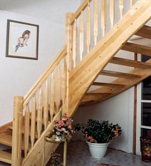 Scari pe structura de lemn BAULAND - Poza 1