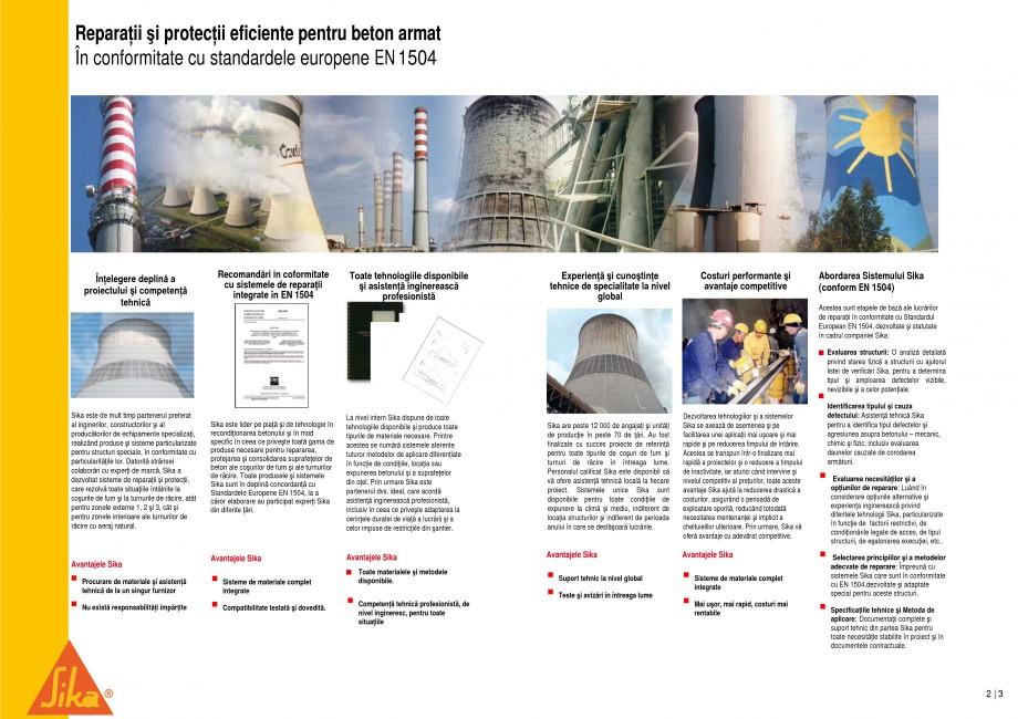 Pagina 2 - Reparatii si protectii pe beton, la cosuri de fum si turnuri de racire SIKA Sika®...