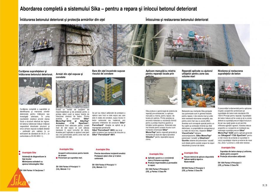Pagina 3 - Reparatii si protectii pe beton, la cosuri de fum si turnuri de racire SIKA Sika®...