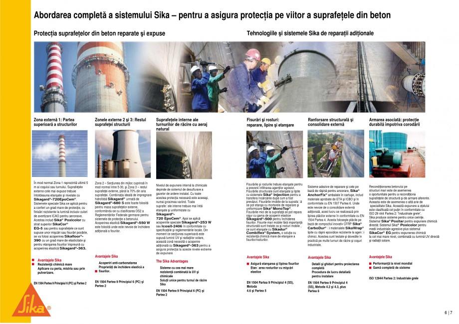 Pagina 4 - Reparatii si protectii pe beton, la cosuri de fum si turnuri de racire SIKA Sika®...