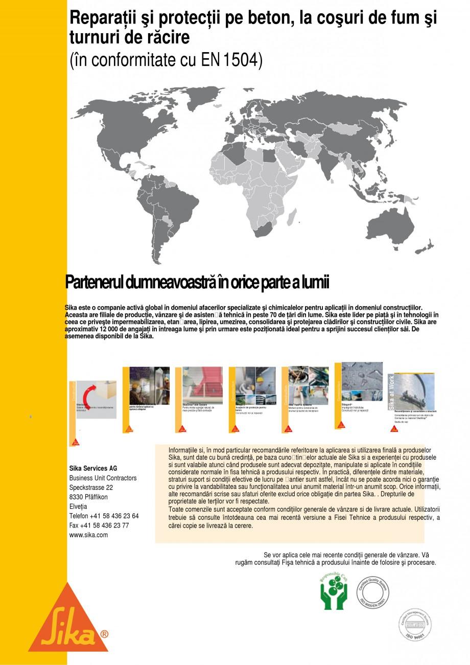 Pagina 5 - Reparatii si protectii pe beton, la cosuri de fum si turnuri de racire SIKA Sika®...