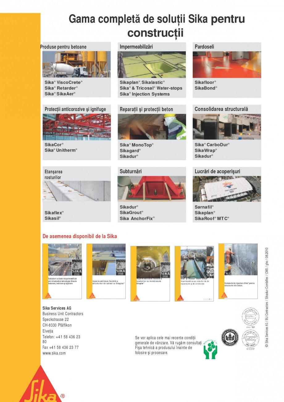 Pagina 8 - Sistem pentru etansarea rosturilor si a fisurilor - Sikadur-Combiflex SIKA Sikadur®...