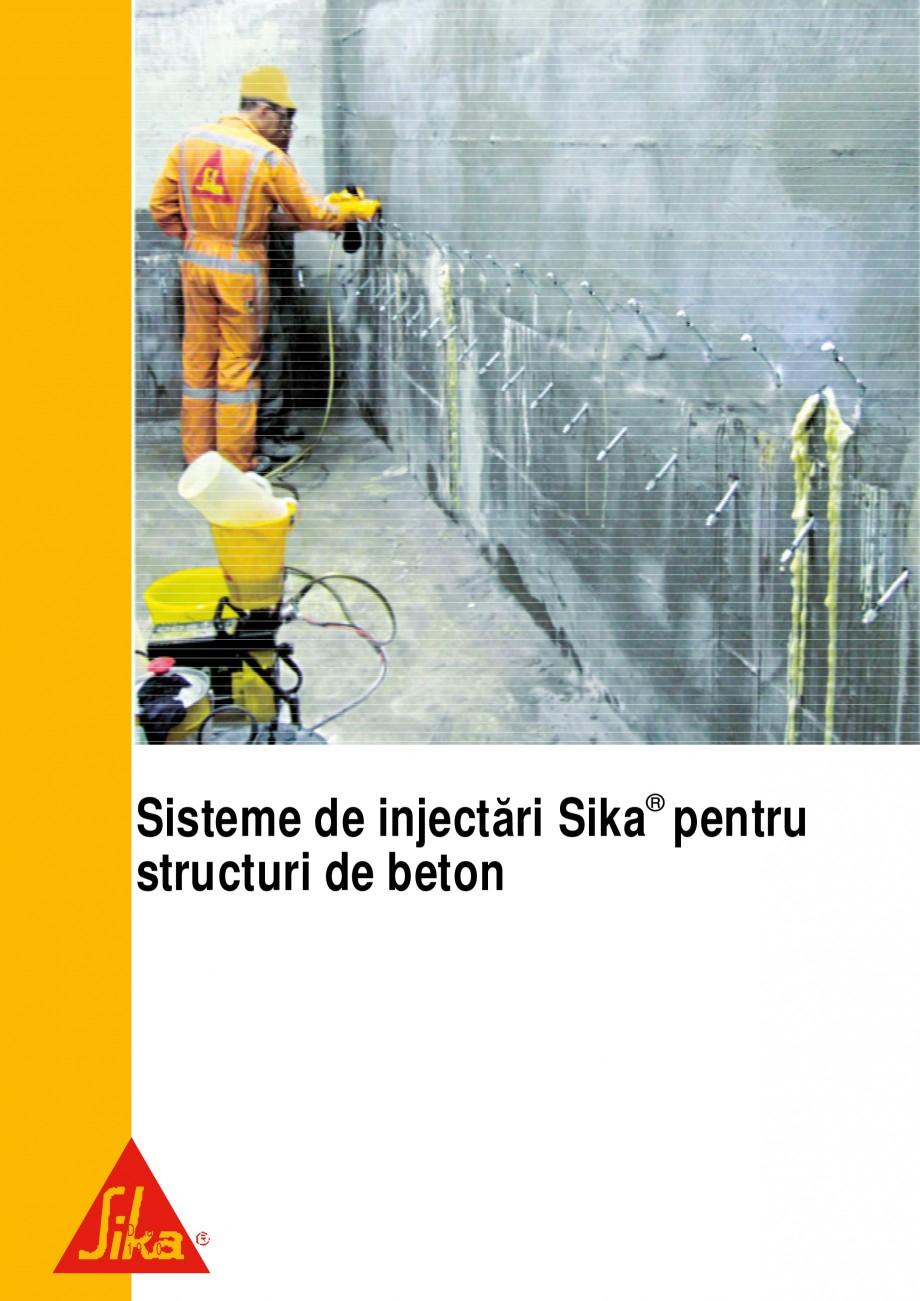 Pagina 1 - Sisteme de injectari Sika pentru structuri de beton SIKA Catalog, brosura Romana Sisteme ...