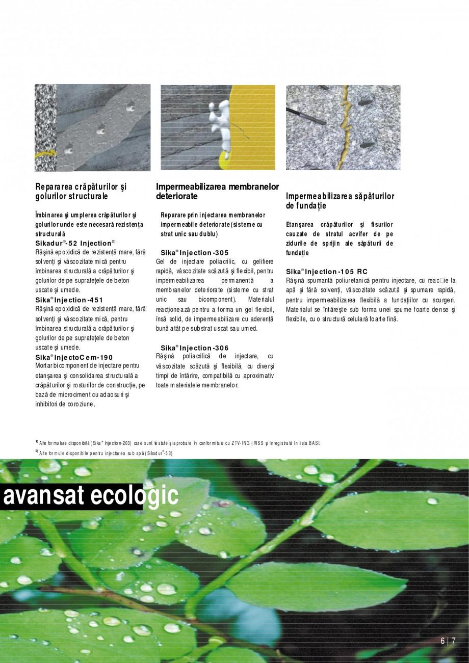 Pagina 7 - Sisteme de injectari Sika pentru structuri de beton SIKA Catalog, brosura Romana...