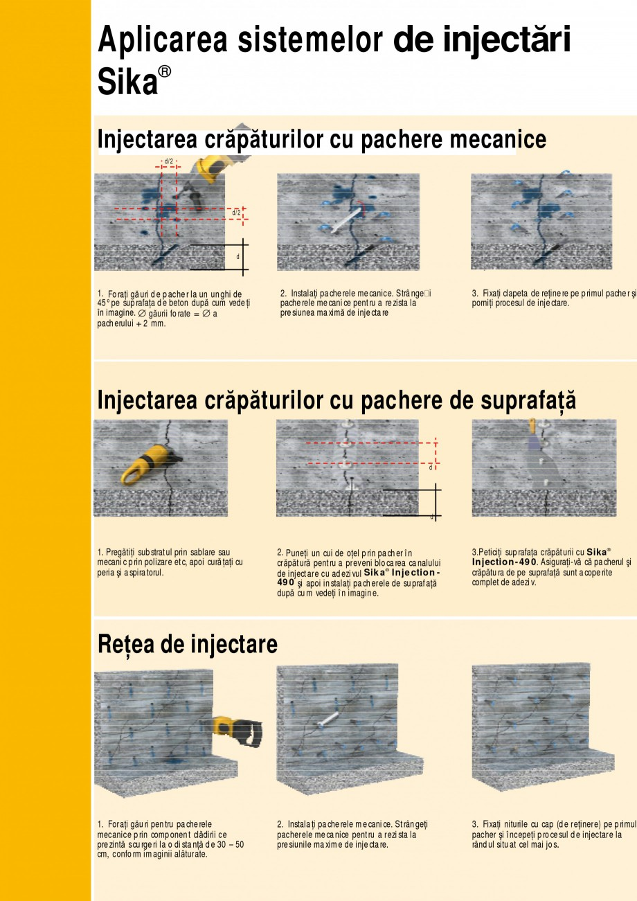 Pagina 10 - Sisteme de injectari Sika pentru structuri de beton SIKA Catalog, brosura Romana î mbi ...