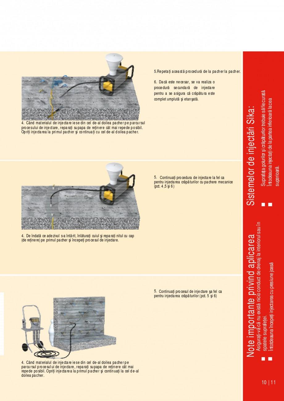 Pagina 11 - Sisteme de injectari Sika pentru structuri de beton SIKA Catalog, brosura Romana Sika Si...