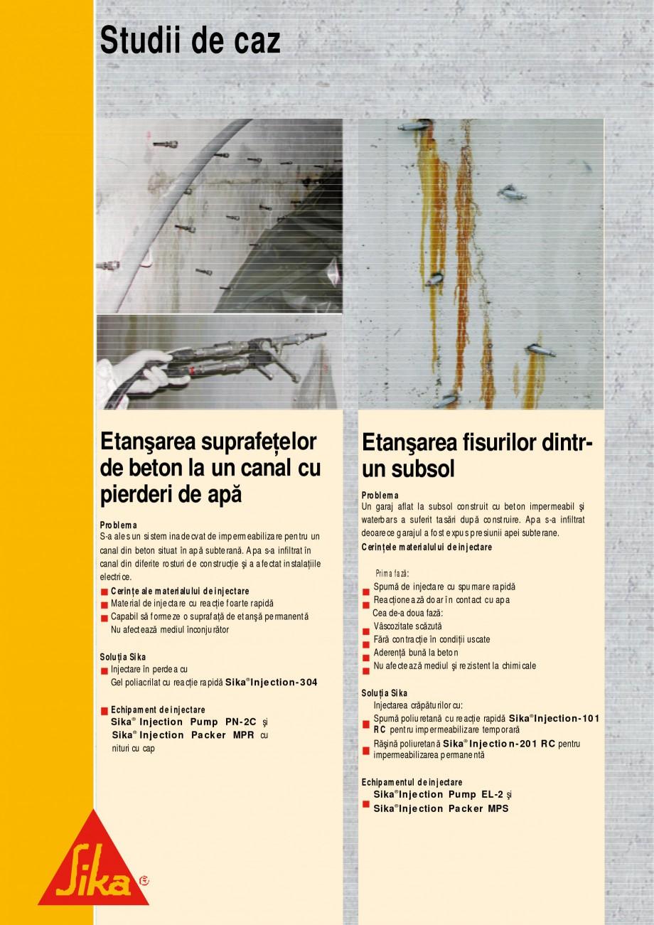 Pagina 14 - Sisteme de injectari Sika pentru structuri de beton SIKA Catalog, brosura Romana e în...