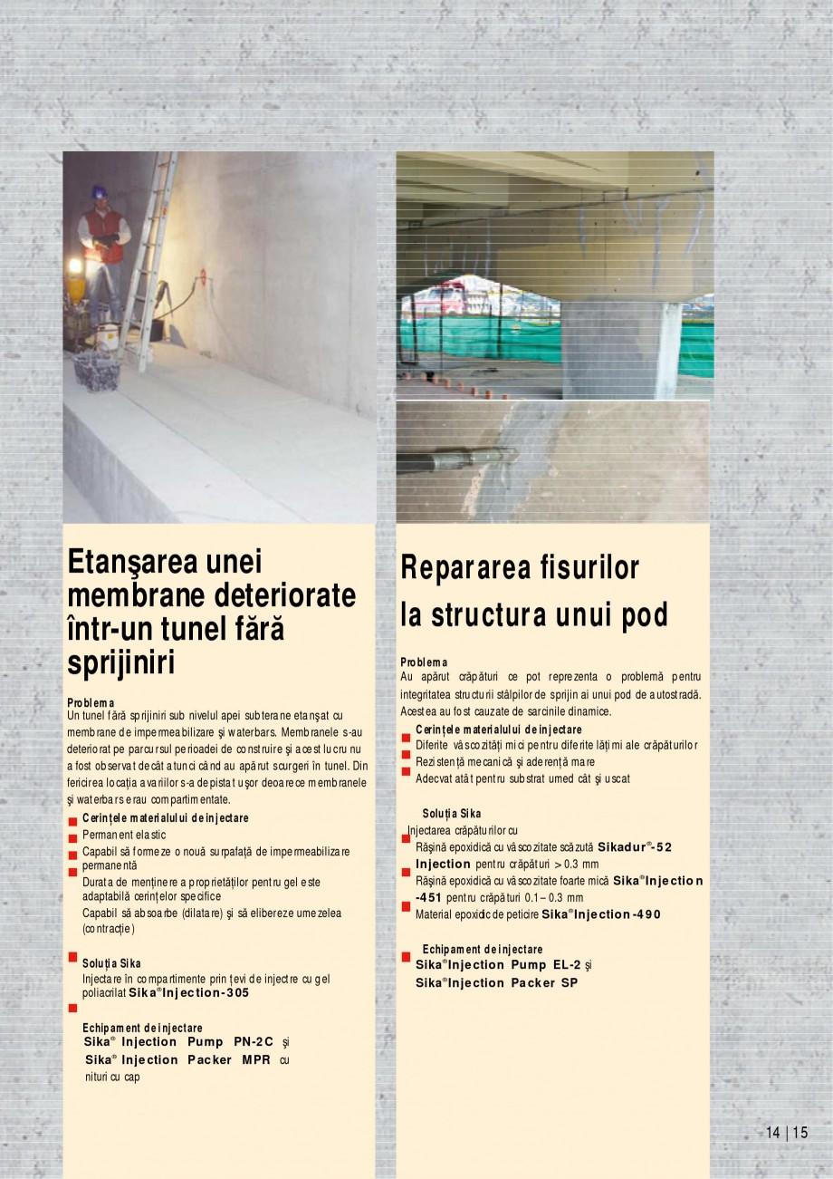 Pagina 15 - Sisteme de injectari Sika pentru structuri de beton SIKA Catalog, brosura Romana  de...