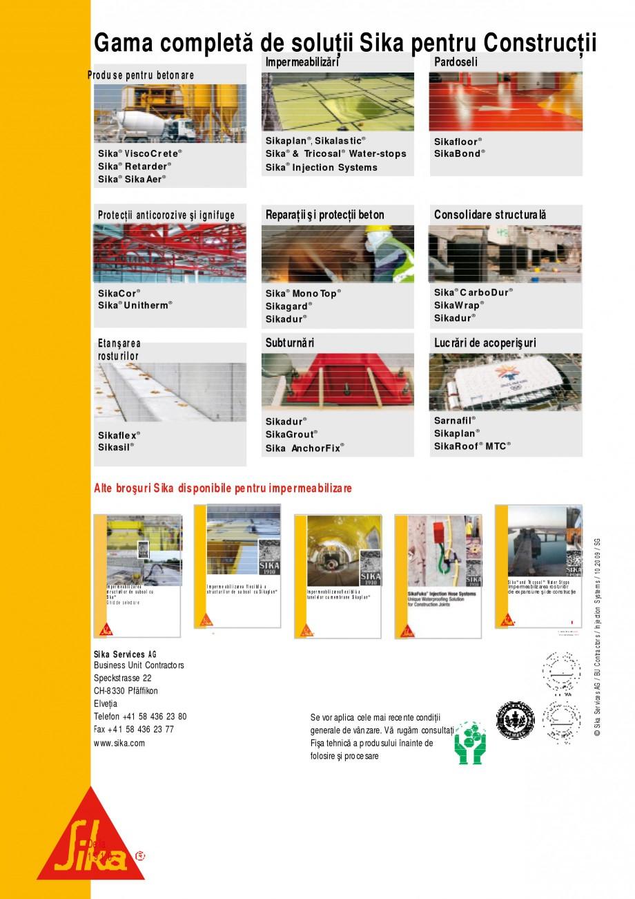 Pagina 16 - Sisteme de injectari Sika pentru structuri de beton SIKA Catalog, brosura Romana  a p ot...