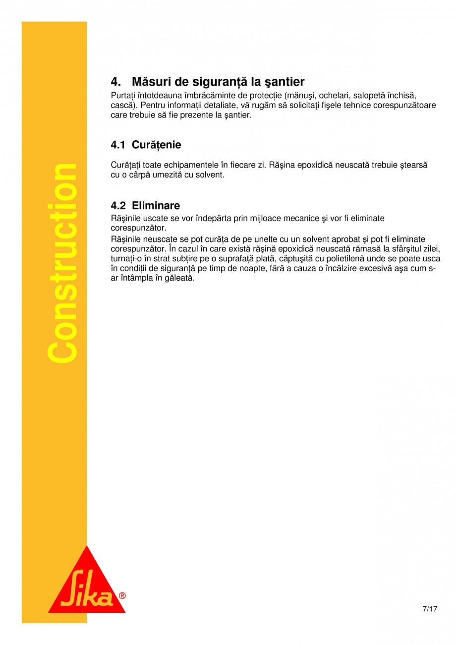 Pagina 7 - Consolidari structurale - Sistemul de panze SIKA SikaWrap®-230C, SikaWrap®-430...