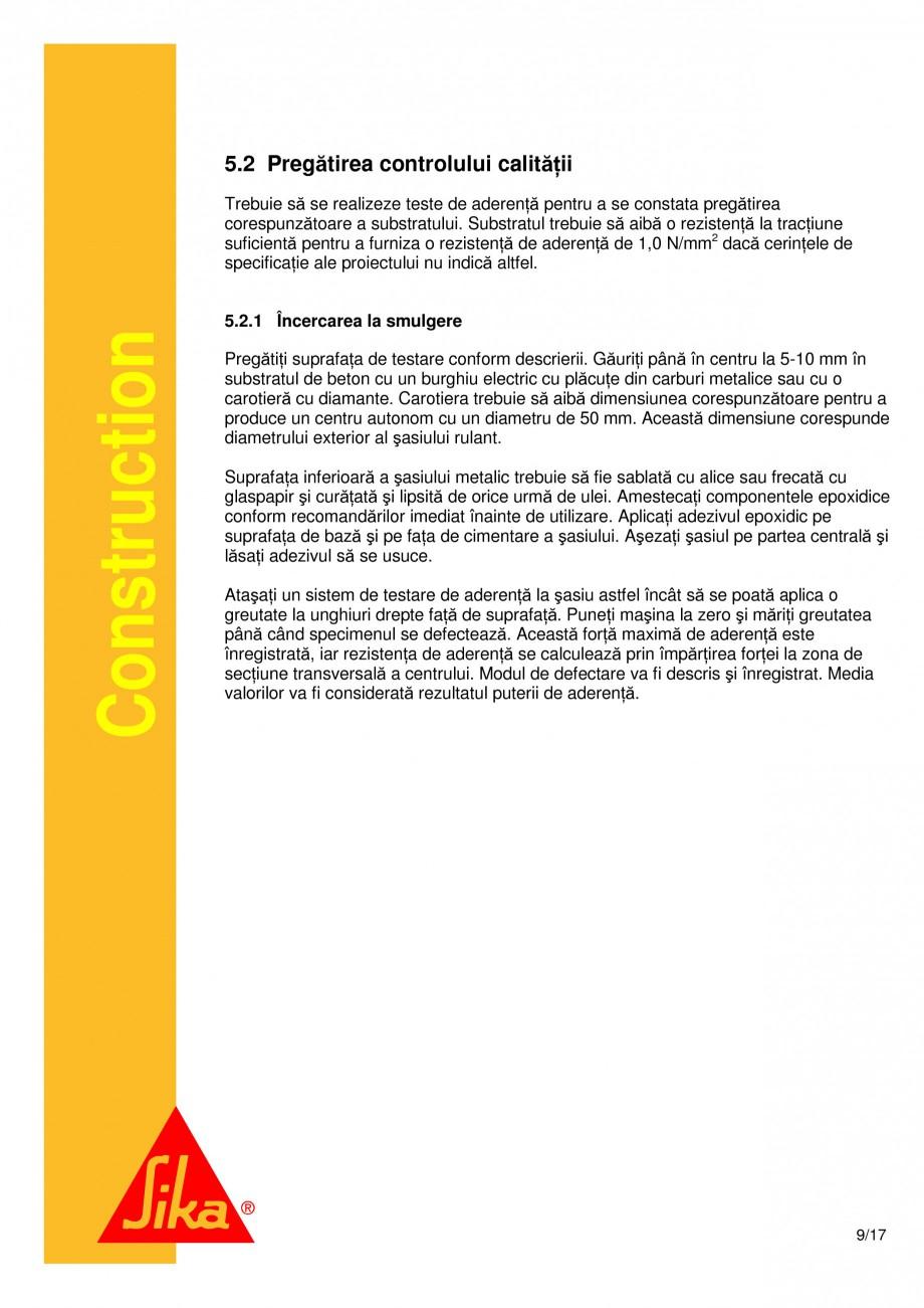 Pagina 9 - Consolidari structurale - Sistemul de panze SIKA SikaWrap®-230C, SikaWrap®-430...