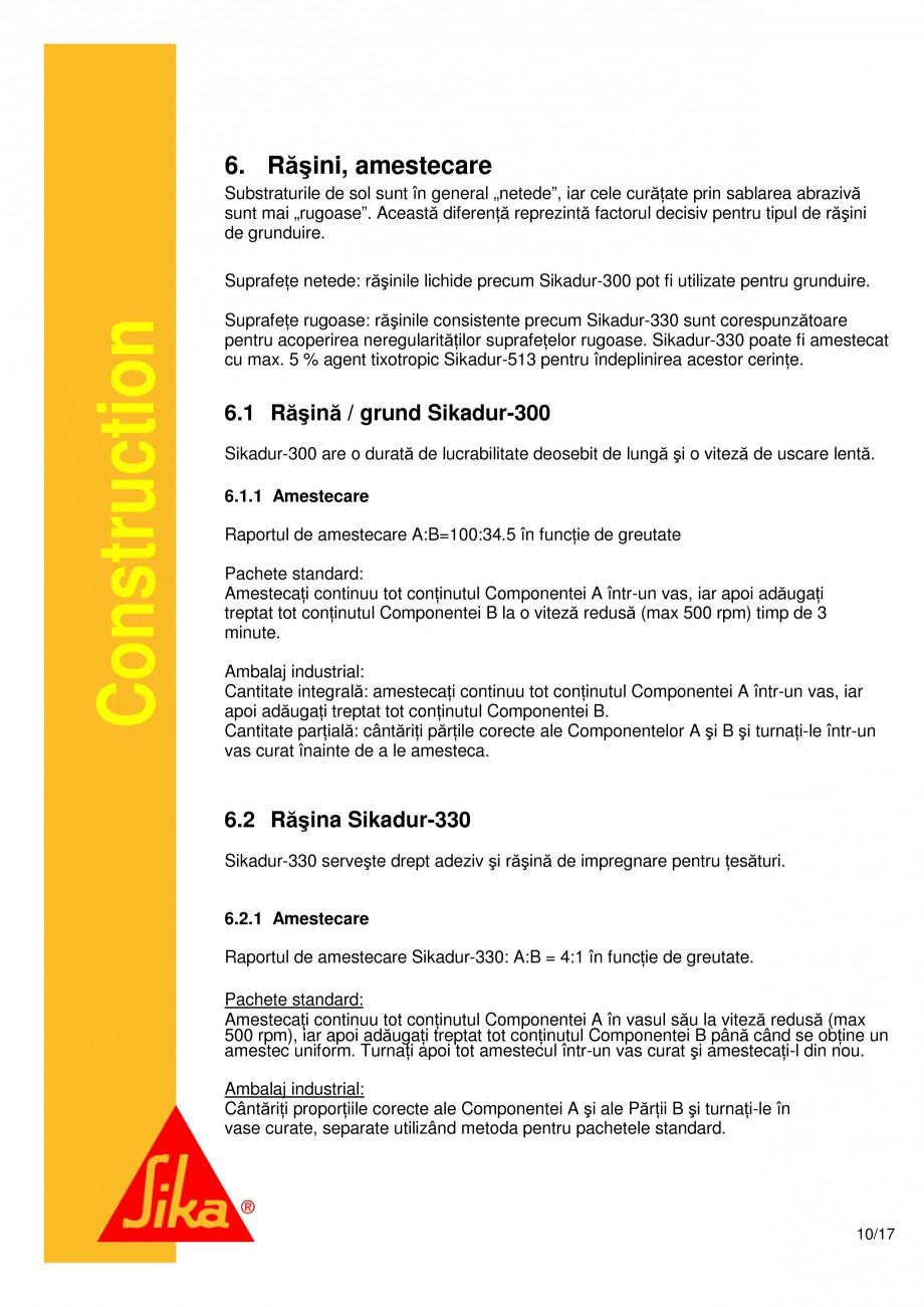 Pagina 10 - Consolidari structurale - Sistemul de panze SIKA SikaWrap®-230C, SikaWrap®-430...