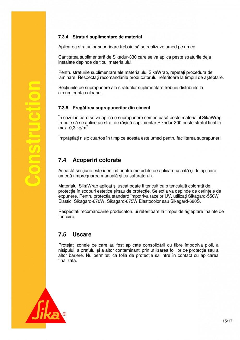 Pagina 15 - Consolidari structurale - Sistemul de panze SIKA SikaWrap®-230C, SikaWrap®-430...