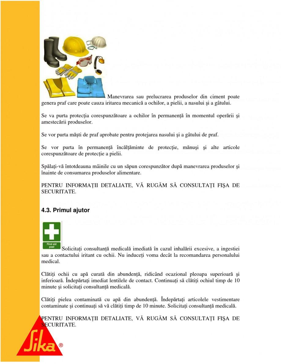 Pagina 7 - Repararea structurilor de beton prin turnari cu mortar - SikaGrout/ MonoTop SIKA...