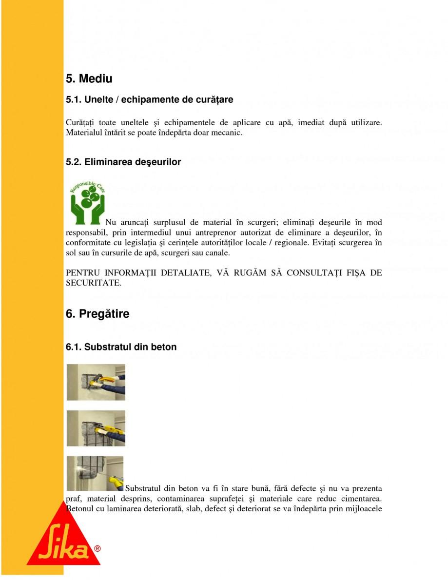 Pagina 8 - Repararea structurilor de beton prin turnari cu mortar - SikaGrout/ MonoTop SIKA...