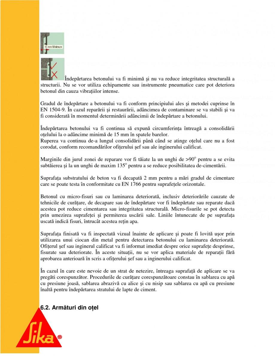Pagina 10 - Repararea structurilor de beton prin turnari cu mortar - SikaGrout/ MonoTop SIKA...