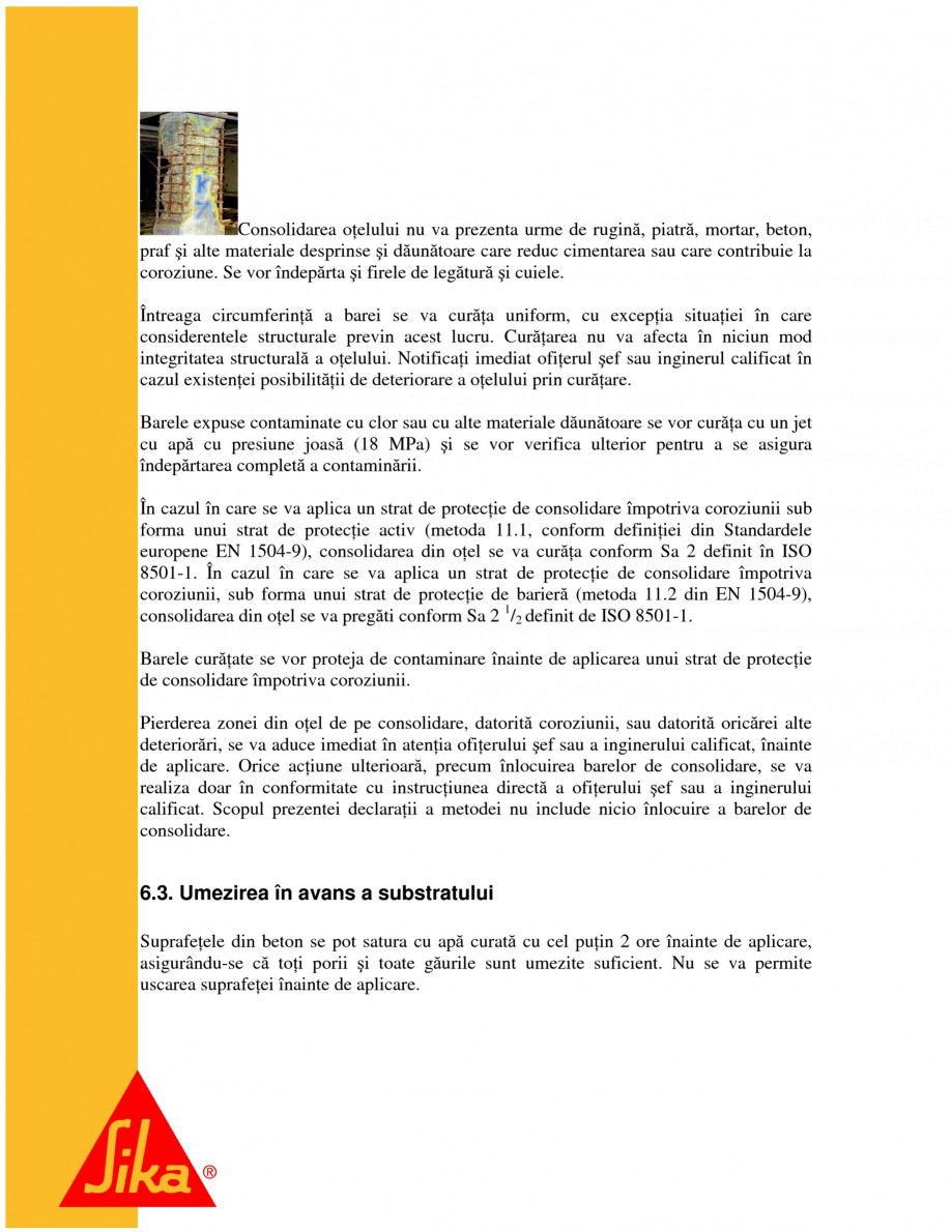 Pagina 11 - Repararea structurilor de beton prin turnari cu mortar - SikaGrout/ MonoTop SIKA...