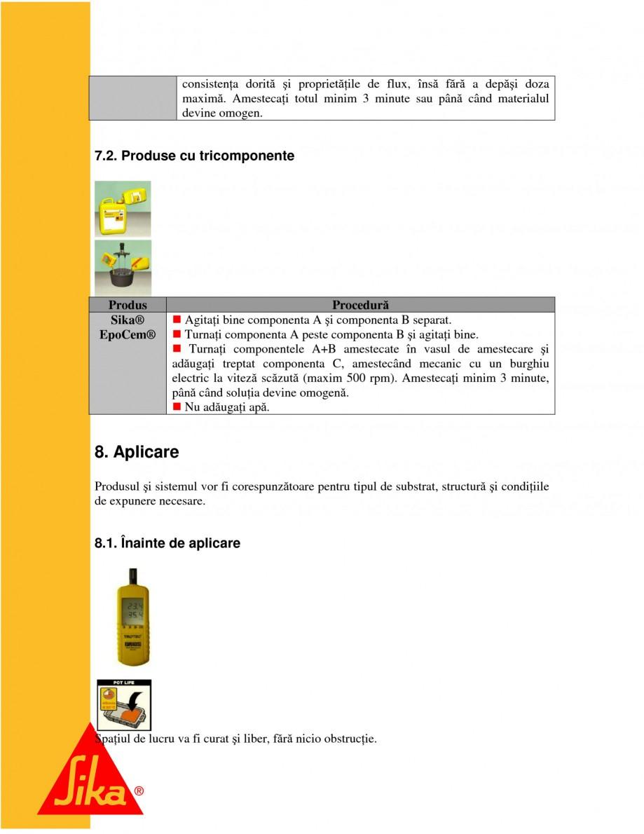 Pagina 13 - Repararea structurilor de beton prin turnari cu mortar - SikaGrout/ MonoTop SIKA...