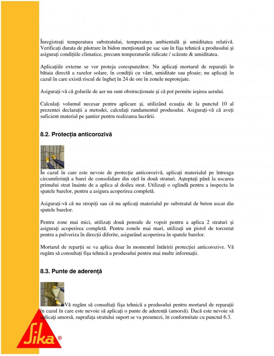 Pagina 14 - Repararea structurilor de beton prin turnari cu mortar - SikaGrout/ MonoTop SIKA...
