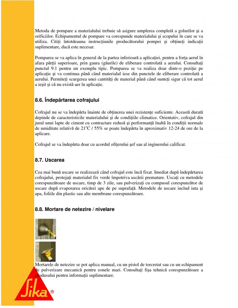 Pagina 16 - Repararea structurilor de beton prin turnari cu mortar - SikaGrout/ MonoTop SIKA...