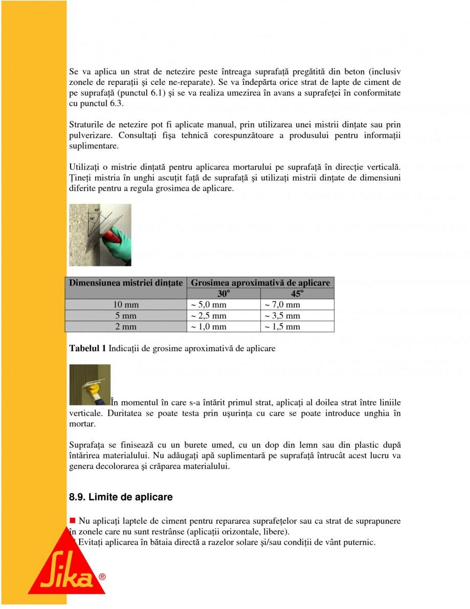Pagina 17 - Repararea structurilor de beton prin turnari cu mortar - SikaGrout/ MonoTop SIKA...