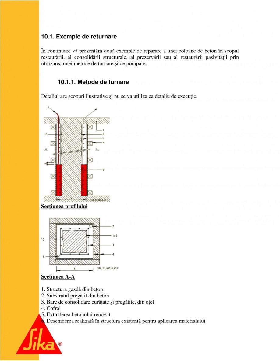 Pagina 20 - Repararea structurilor de beton prin turnari cu mortar - SikaGrout/ MonoTop SIKA...