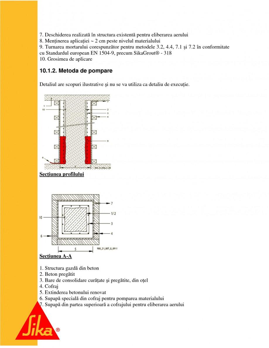 Pagina 21 - Repararea structurilor de beton prin turnari cu mortar - SikaGrout/ MonoTop SIKA...