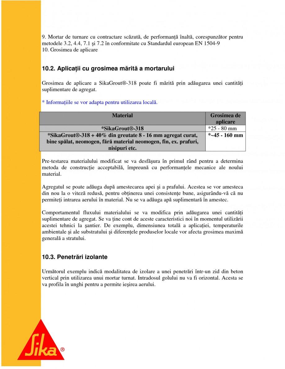 Pagina 22 - Repararea structurilor de beton prin turnari cu mortar - SikaGrout/ MonoTop SIKA...