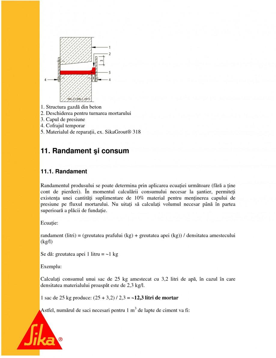 Pagina 23 - Repararea structurilor de beton prin turnari cu mortar - SikaGrout/ MonoTop SIKA...