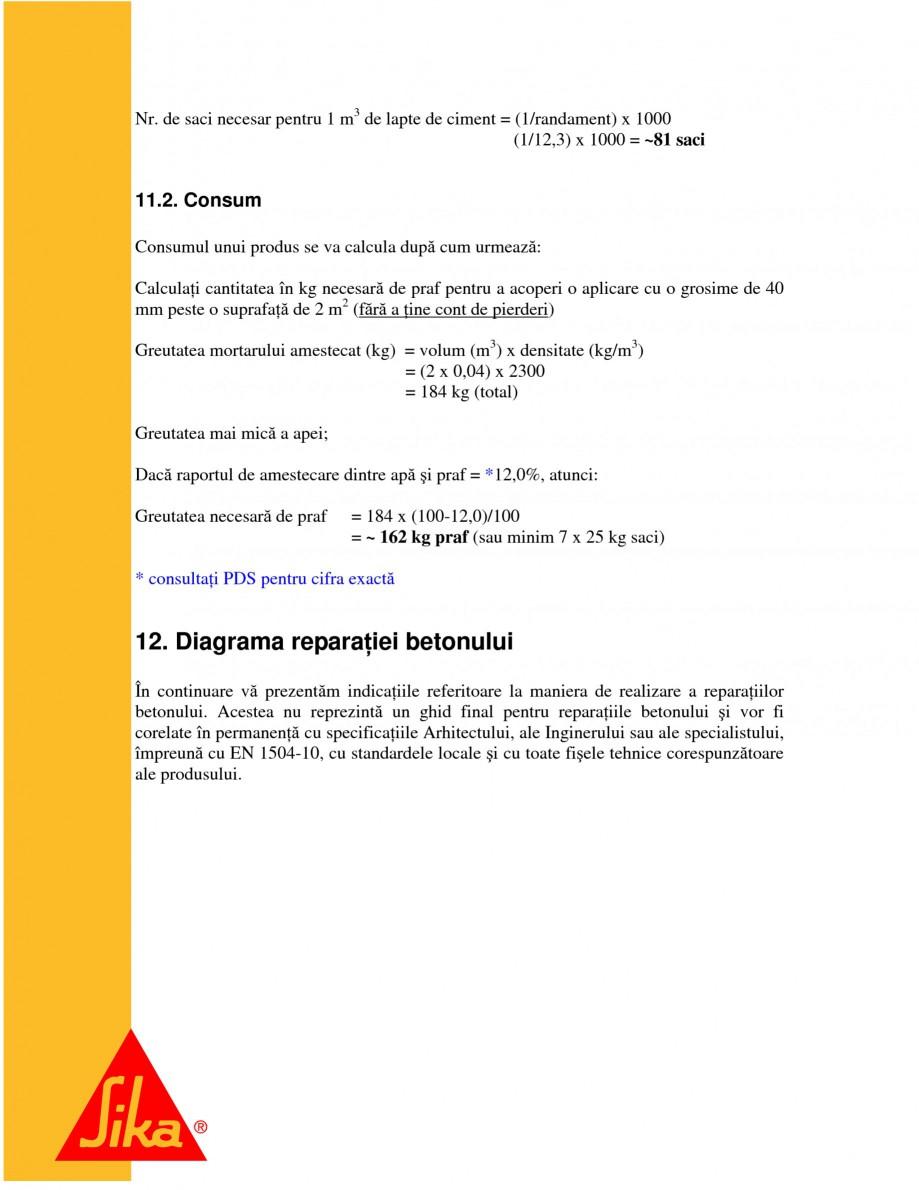 Pagina 24 - Repararea structurilor de beton prin turnari cu mortar - SikaGrout/ MonoTop SIKA...