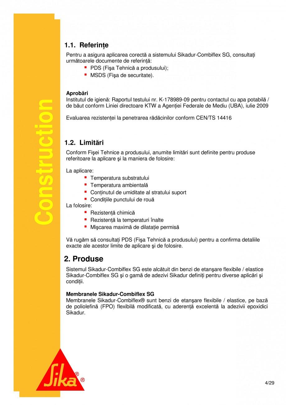 Pagina 4 - Sistem de etansare a rosturilor si reparare a fisurilor - Sikadur-Combiflex SG SIKA...