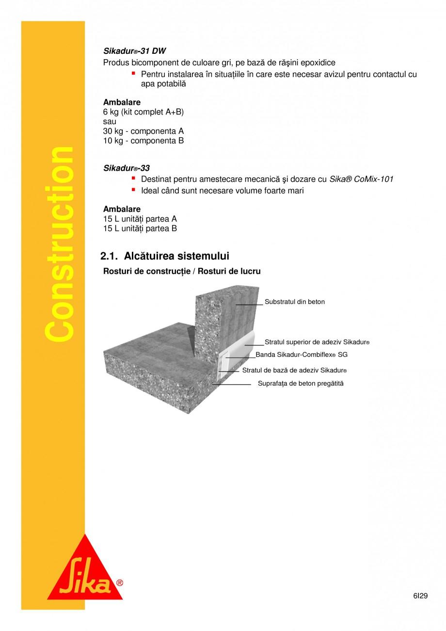 Pagina 6 - Sistem de etansare a rosturilor si reparare a fisurilor - Sikadur-Combiflex SG SIKA...
