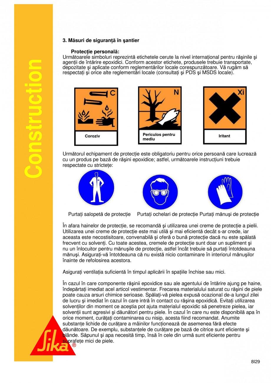 Pagina 8 - Sistem de etansare a rosturilor si reparare a fisurilor - Sikadur-Combiflex SG SIKA...