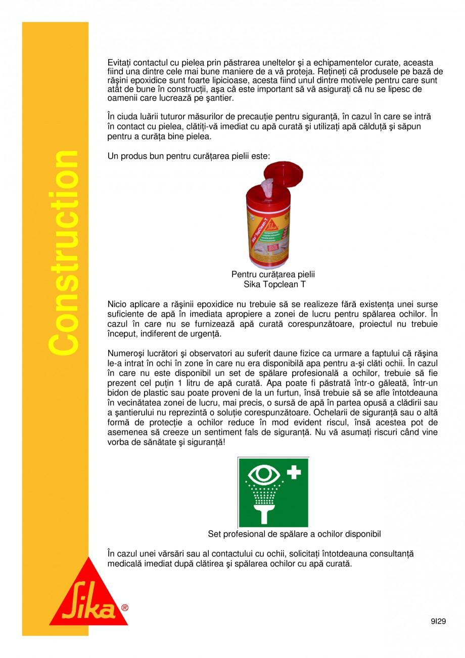 Pagina 9 - Sistem de etansare a rosturilor si reparare a fisurilor - Sikadur-Combiflex SG SIKA...