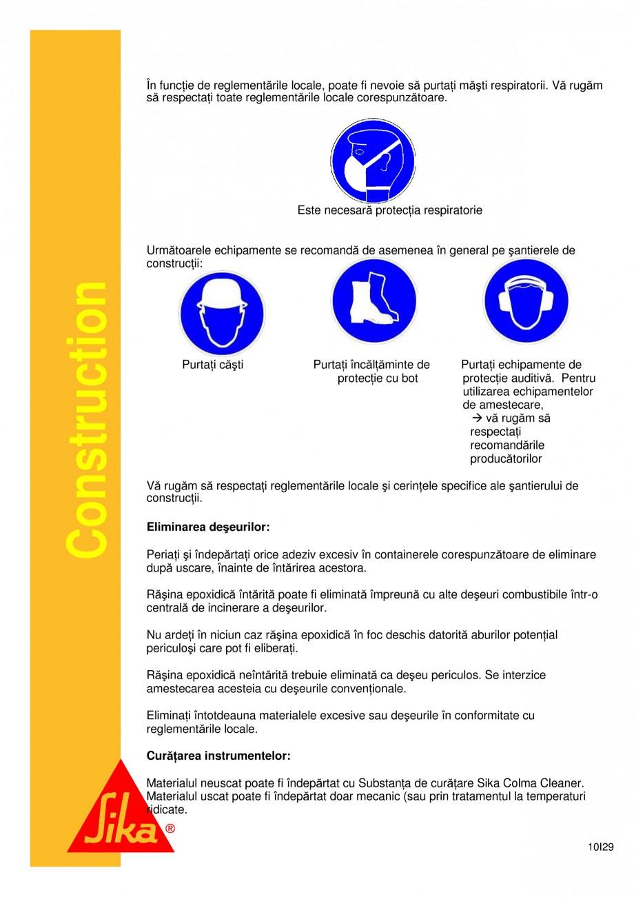 Pagina 10 - Sistem de etansare a rosturilor si reparare a fisurilor - Sikadur-Combiflex SG SIKA...