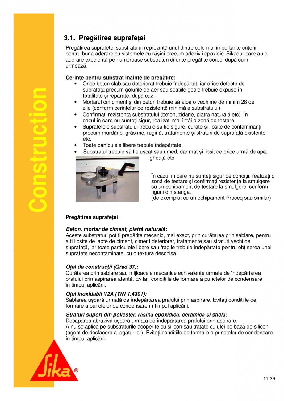 Pagina 11 - Sistem de etansare a rosturilor si reparare a fisurilor - Sikadur-Combiflex SG SIKA...