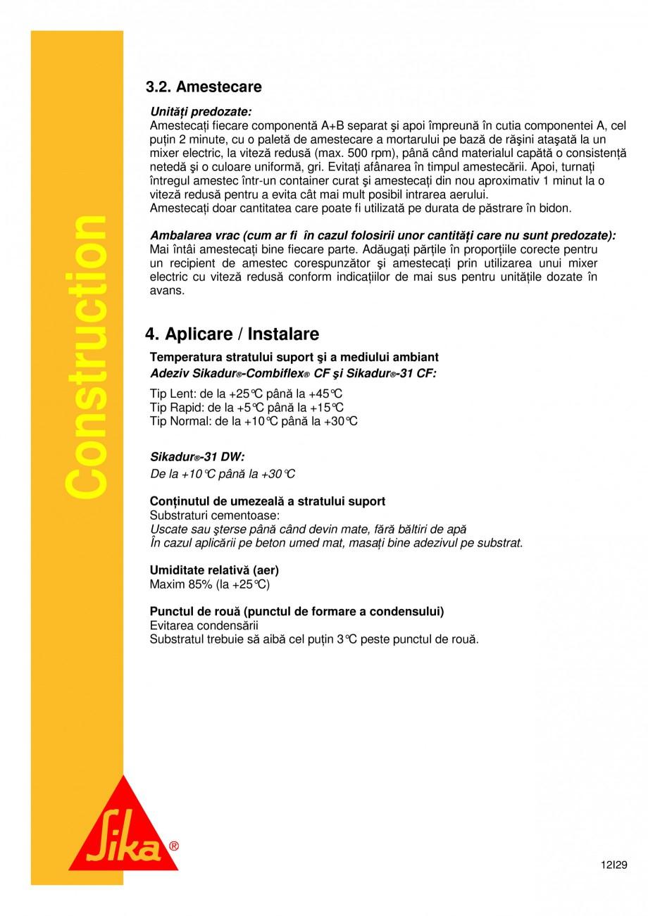 Pagina 12 - Sistem de etansare a rosturilor si reparare a fisurilor - Sikadur-Combiflex SG SIKA...